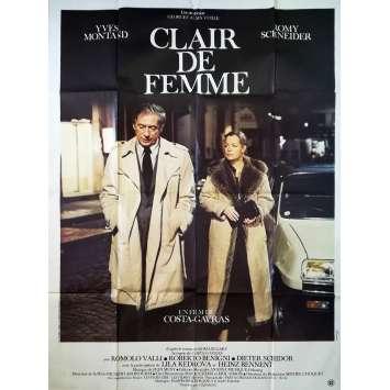 CLAIR DE FEMME Affiche de film - 120x160 cm. - 1979 - Romy Schneider, Costa Gavras