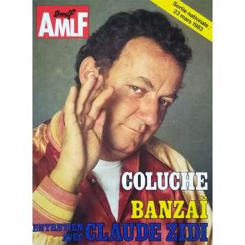 BANZAI Dossier de presse 4p - 24x30 cm. - 1983 - Coluche, Claude Zidi