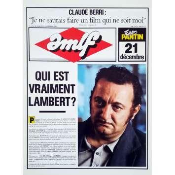 TCHAO PANTIN Synopsis 4p - 24x30 cm. - 1983 - Coluche, Claude Berri