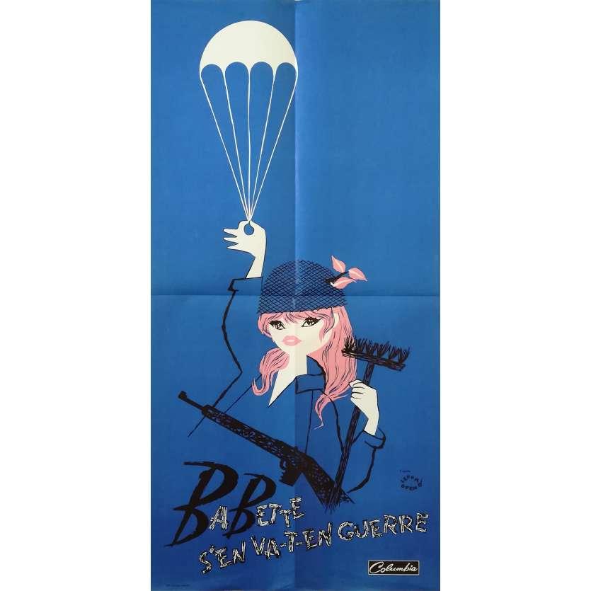 BABETH S'EN VA-T-EN GUERRE Affiche de film - 40x80 cm. - 1959 - Brigitte Bardot, Christian Jaque
