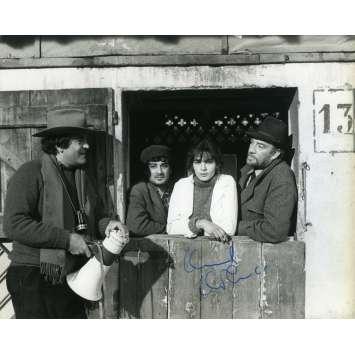 THE TRAGEDY OF A RIDICULOUS MAN Original Signed Photo - 7x9 in. - 1981 - Bernardo Bertolucci, Ugo Tognazzi