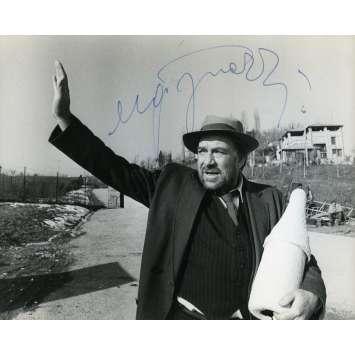 LA TRAGEDIE D'UN HOMME RIDICULE Photo signée par Ugo Tognazzi - 18x24 cm. - 1981