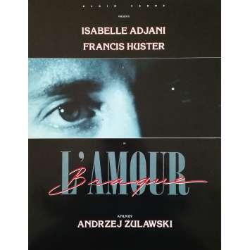 L'AMOUR BRAQUE Dossier de presse 4p - 30x40 cm. - 1985 - Sophie Marceau, Andrzej Zulawski