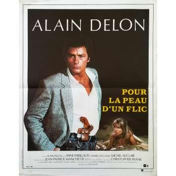 FOR A COP'S HIDE Original Movie Poster - 15x21 in. - 1981 - Alain Delon, Alain Delon