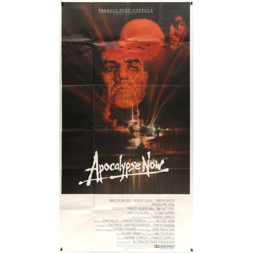 APOCALYPSE NOW Rare Affiche US 3sh - 1979 - Francis F. Coppola