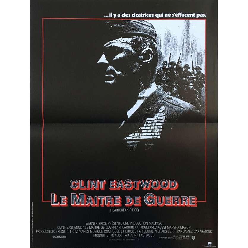 LE MAITRE DE GUERRE Affiche de film 40x60 - 1986 - Everett McGill, Clint Eastwood