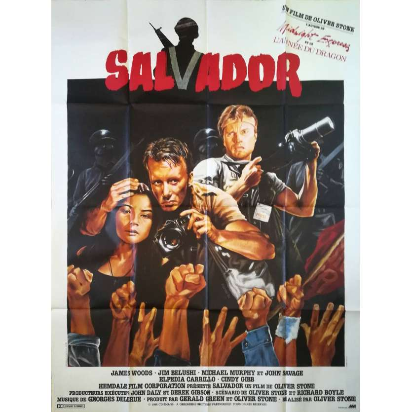SALVADOR Movie Poster 47x63 in. - 1986 - Oliver Stone, James Woods