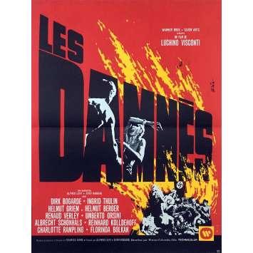 LES DAMNES Affiche de film 40x60 - 1969 - Dirk Bogarde, Luchino Visconti