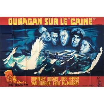 OURAGAN SUR LE CAINE Affiche de film - 120x320 cm. - 1954 - Humphrey Bogart, Edward Dmytryk
