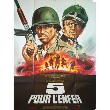 CINQ POUR L'ENFER Affiche de film - 120x160 cm. - 1969 - Klaus Kinski, Gianfranco Parolini