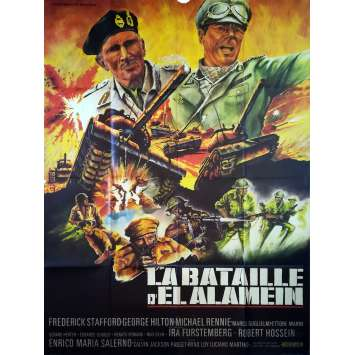 LA BATAILLE D'EL ALAMEIN Affiche de film - 120x160 cm. - 1969 - George Hilton, Giorgio Ferroni