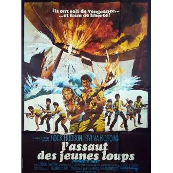 L'ASSAUT DES JEUNES LOUPS Affiche de film - 120x160 cm. - 1970 - Rock Hudson, Phil Karlson