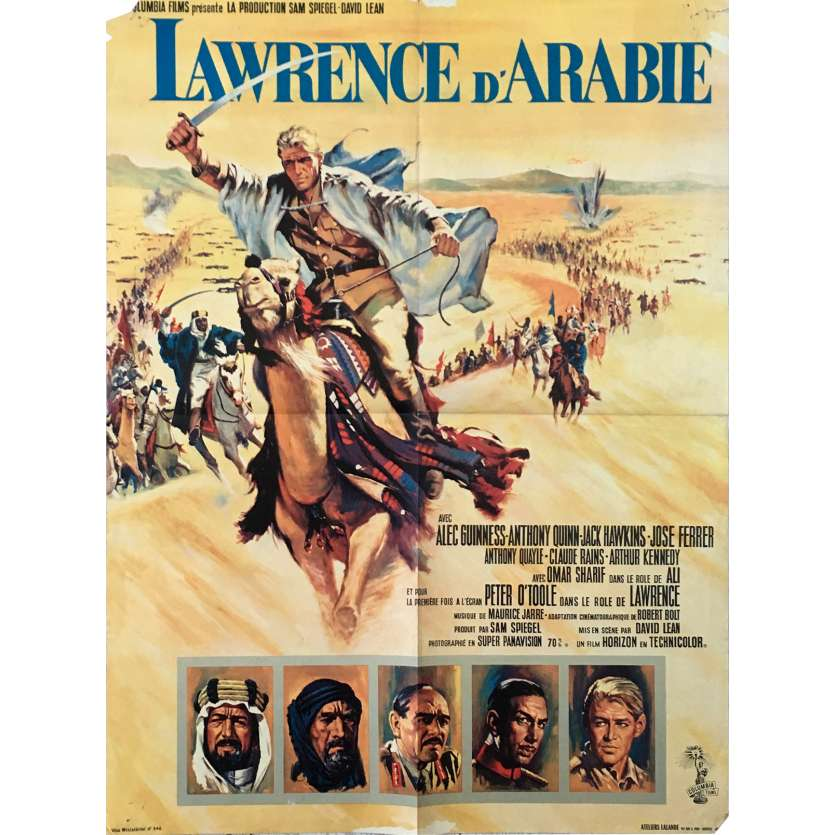 LAWRENCE D'ARABIE Affiche de film - 60x80 cm. - 1962 - Peter O'Toole, David Lean