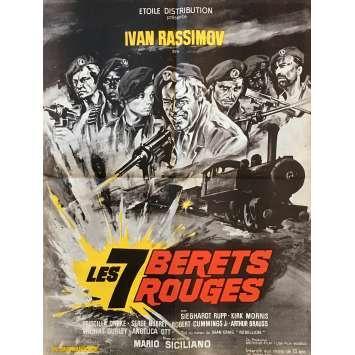 LES 7 BERETS ROUGES Affiche de film - 60x80 cm. - 1969 - Ivan Rassimov, Mario Siciliano