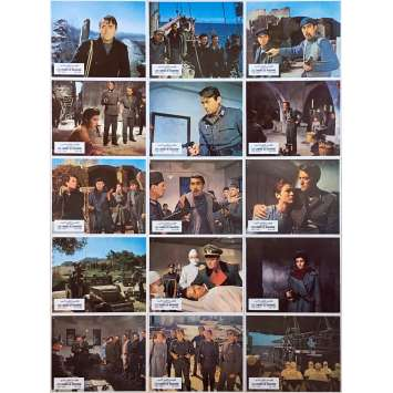 THE GUNS OF NAVARONE Original Lobby Cards x15 - 9x12 in. - 1961 - J. Lee Thompson, Gregory Peck, Anthony Quinn