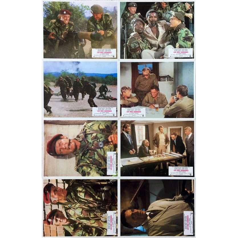LES OIES SAUVAGES Photos de film x8 - 21x30 cm. - 1978 - Richard Burton, Roger Moore, Andrew V. McLaglen