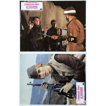 FORCE 10 FROM NAVARONE Original Lobby Cards x2 - 9x12 in. - 1978 - Guy Hamilton, Harrison Ford