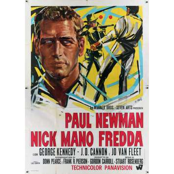 LUKE LA MAIN FROIDE Affiche de film - 140x200 cm. - 1967 - Paul Newman, Stuart Rosenberg