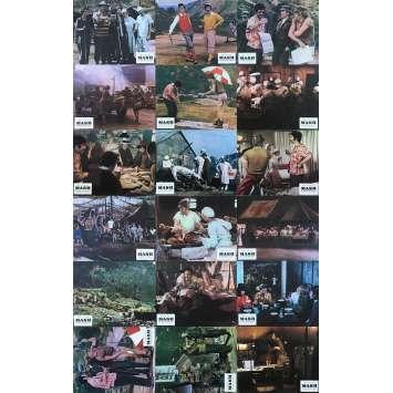 MASH Original Lobby Cards x18 - 9x12 in. - 1972 - Robert Altman, Donald Sutherland