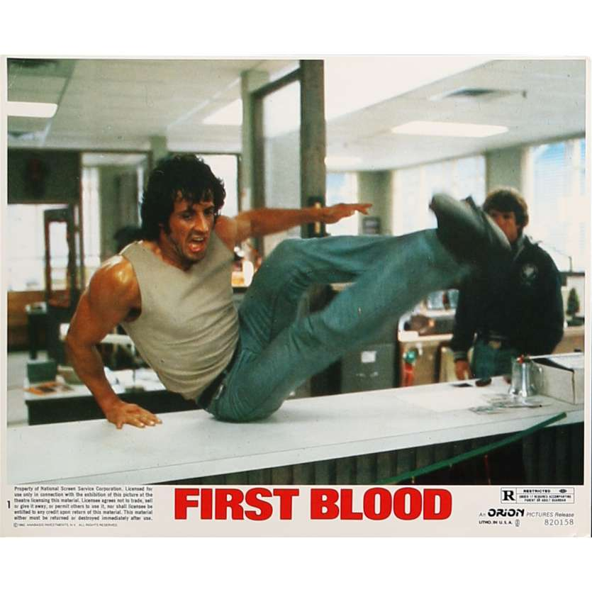 RAMBO Photo de film N01 - 20x25 cm. - 1982 - Sylvester Stallone, Ted Kotcheff