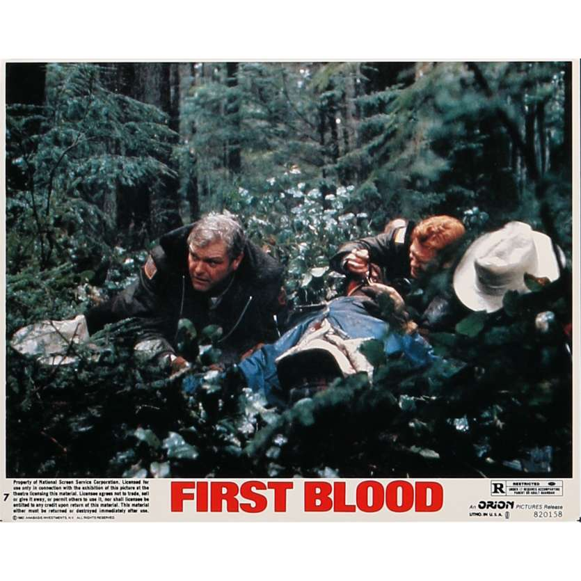 RAMBO Photo de film N07 - 20x25 cm. - 1982 - Sylvester Stallone, Ted Kotcheff