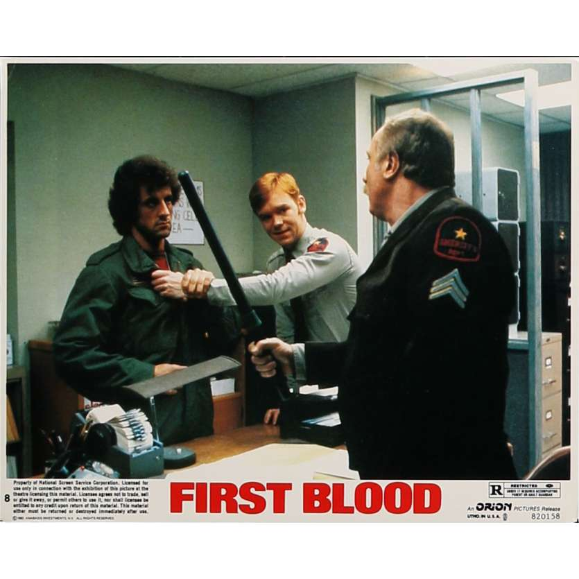 RAMBO Photo de film N08 - 20x25 cm. - 1982 - Sylvester Stallone, Ted Kotcheff