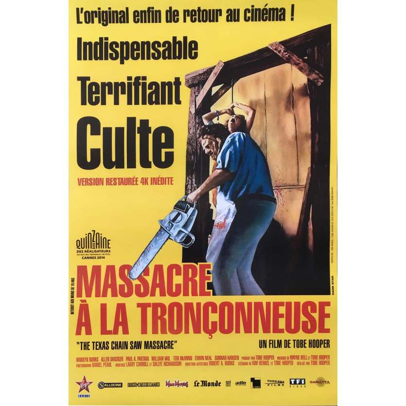 MASSACRE A LA TRONÇONNEUSE Affiche de film - 40x60 cm. - R2010 - Marilyn Burns, Tobe Hooper