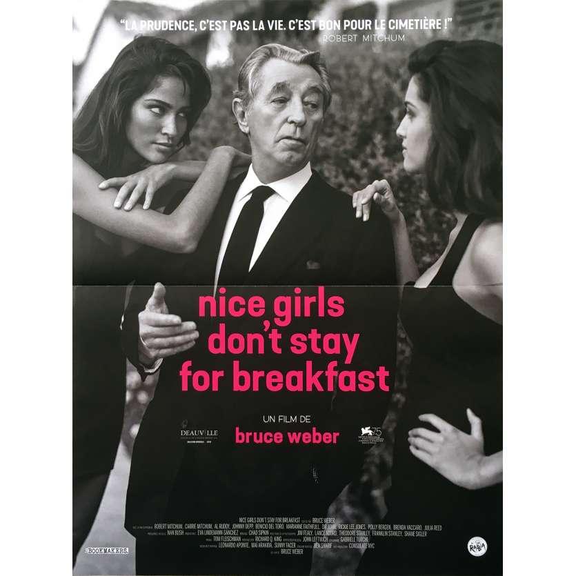 NICE GIRLS DON'T STAY FOR BREAKFAST Affiche de film - 40x60 cm. - 2018 - Robert Mitchum, Bruce Weber
