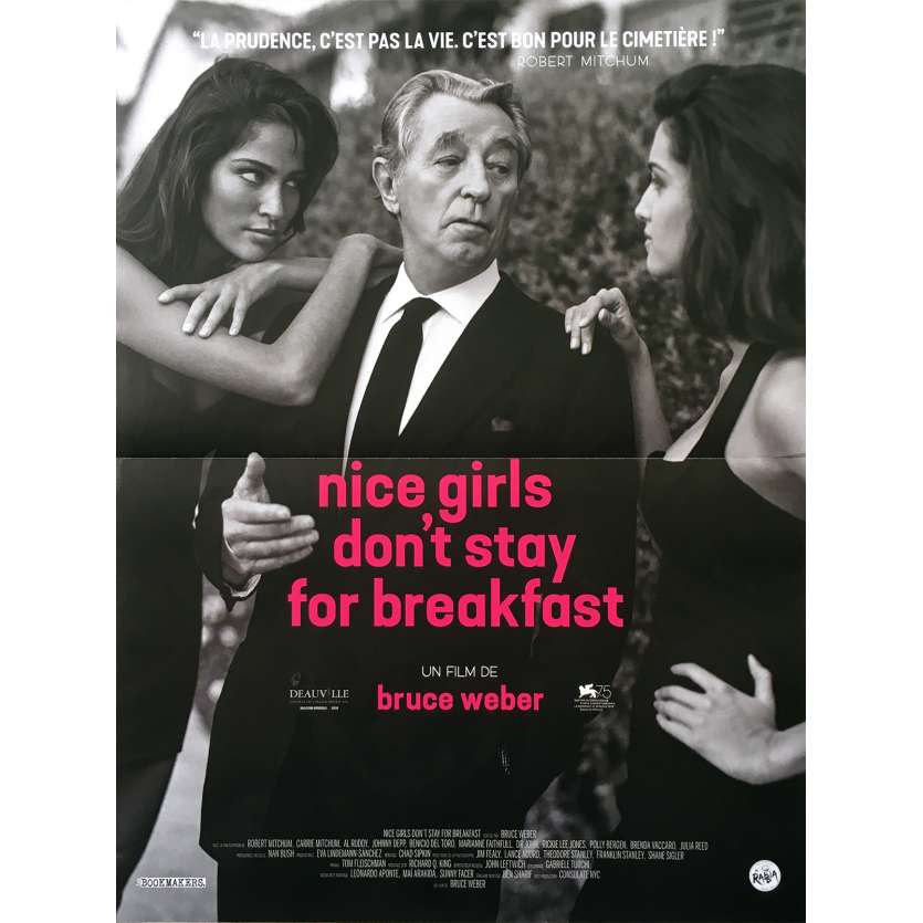NICE GIRLS DON'T STAY FOR BREAKFAST Original Movie Poster - 15x21 in. - 2018 - Bruce Weber, Robert Mitchum