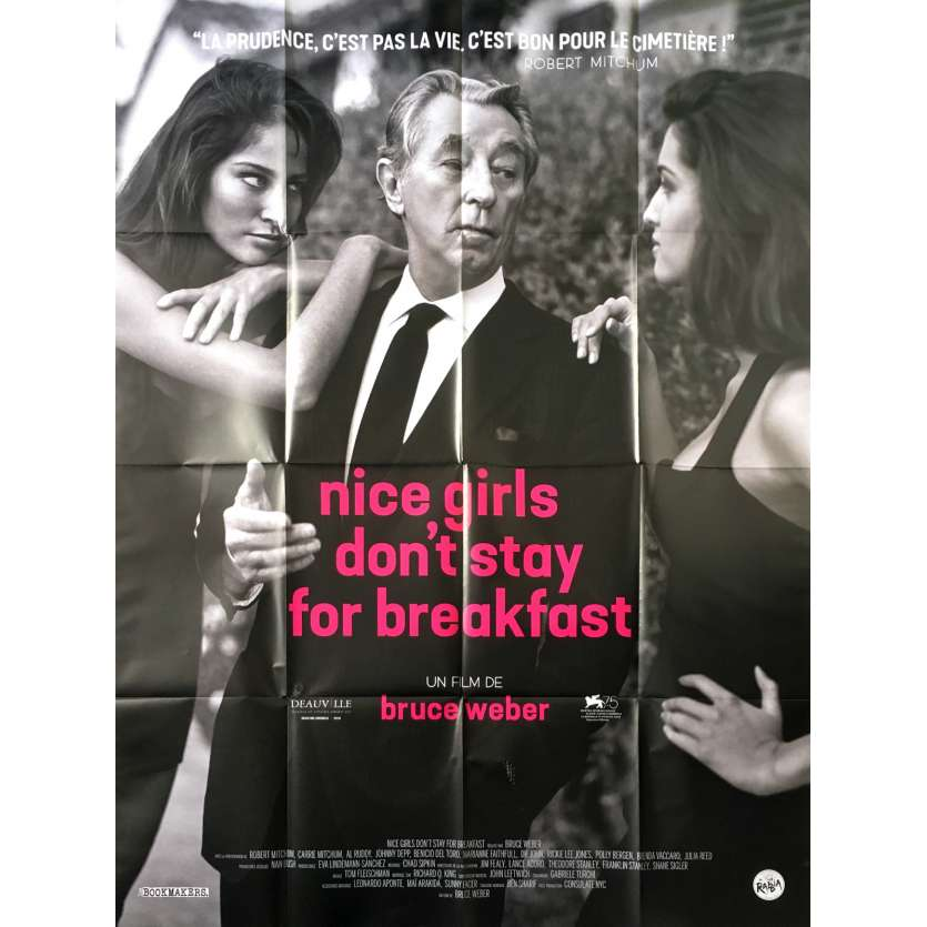 NICE GIRLS DON'T STAY FOR BREAKFAST Affiche de film - 120x160 cm. - 2018 - Robert Mitchum, Bruce Weber
