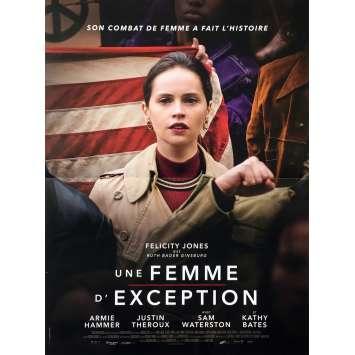 UNE FEMME D'EXCEPTION Affiche de film - 40x60 cm. - 2018 - Felicity Jones, Mimi Leder