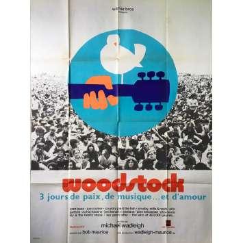 WOODSTOCK Original Movie Poster - 47x63 in. - 1970 - Michael Wadleigh, Jimi Hendrix