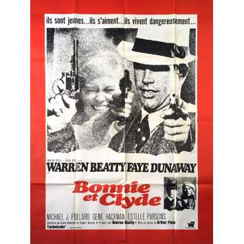 BONNIE AND CLYDE Affiche de film - 120x160 cm. - 1967 - Warren Beatty, Arthur Penn
