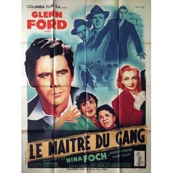 LE MAITRE DU GANG Affiche de film - 120x160 cm. - 1949 - Glen Ford, Joseph H. Lewis