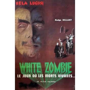 WHITE ZOMBIE Original Movie Poster - 32x47 in. - R1970 - Victor Halperin, Bela Lugosi