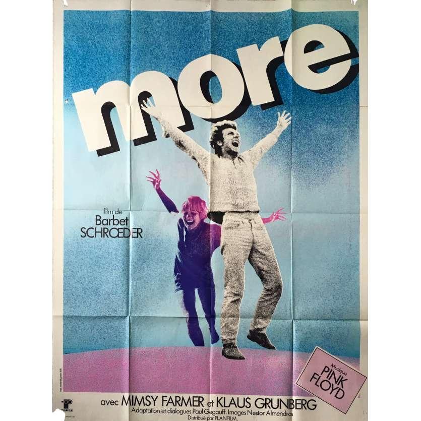 MORE Affiche de film - 120x160 cm. - 1969 - Mimsy Farmer, Barbet Schroeder