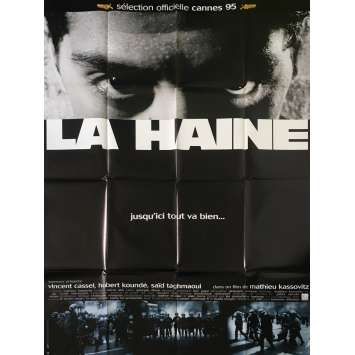 LA HAINE Affiche de film Mod C - 120x160 cm. - 1995 - Vincent Cassel, Mathieu Kassovitz