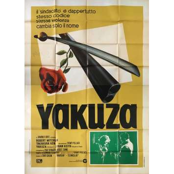 THE YAKUZA Original Movie Poster - 55x70 in. - 1974 - Sydney Pollack, Robert Mitchum