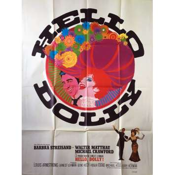 HELLO DOLLY Original Movie Poster - 47x63 in. - 1969 - Gene Kelly, Barbra Streisand