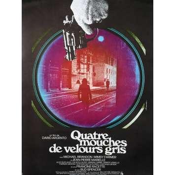 QUATRE MOUCHES DE VELOURS GRIS Affiche de film - 40x60 cm. - 1971 - Jean-Pierre Marielle, Dario Argento