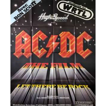 AC DC LET THERE BE ROCK Affiche de film - 120x160 cm. - 1980 - Angus Young, Eric Dyonisus