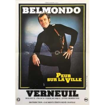 PEUR SUR LA VILLE Affiche de film - 40x60 cm. - 1975 - Jean-Paul Belmondo, Henri Verneuil