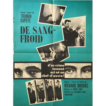 DE SANG FROID Affiche de film - 60x80 cm. - 1967 - Robert Blake, Richard Brooks