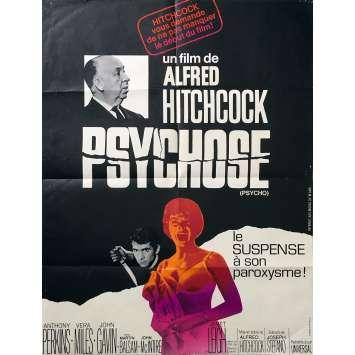 PSYCHOSE Affiche de film - 60x80 cm. - R1970 - Anthony Perkins, Alfred Hitchcock