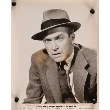 L'HOMME QUI EN SAVAIT TROP Photo de presse N06 - 20x25 cm. - 1954 - James Stewart, Alfred Hitchcock