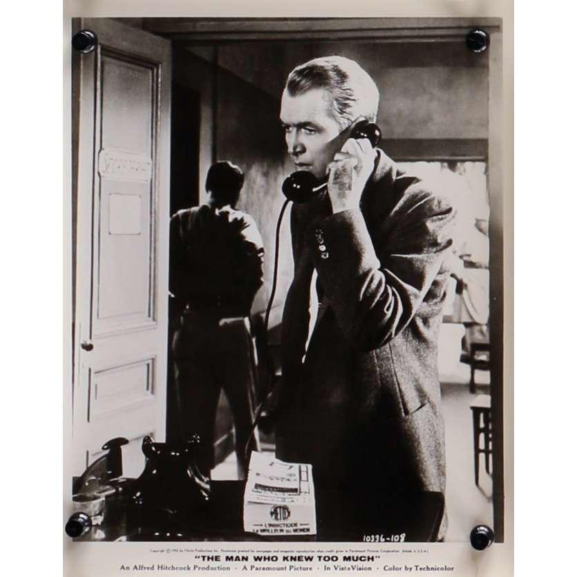 L'HOMME QUI EN SAVAIT TROP Photo de presse N11 - 20x25 cm. - 1954 - James Stewart, Alfred Hitchcock