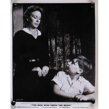 L'HOMME QUI EN SAVAIT TROP Photo de presse N12 - 20x25 cm. - 1954 - James Stewart, Alfred Hitchcock