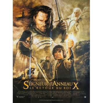 THE RETURN OF THE KING Huge French Movie Poster 47x63 '04 Lord of the Ring