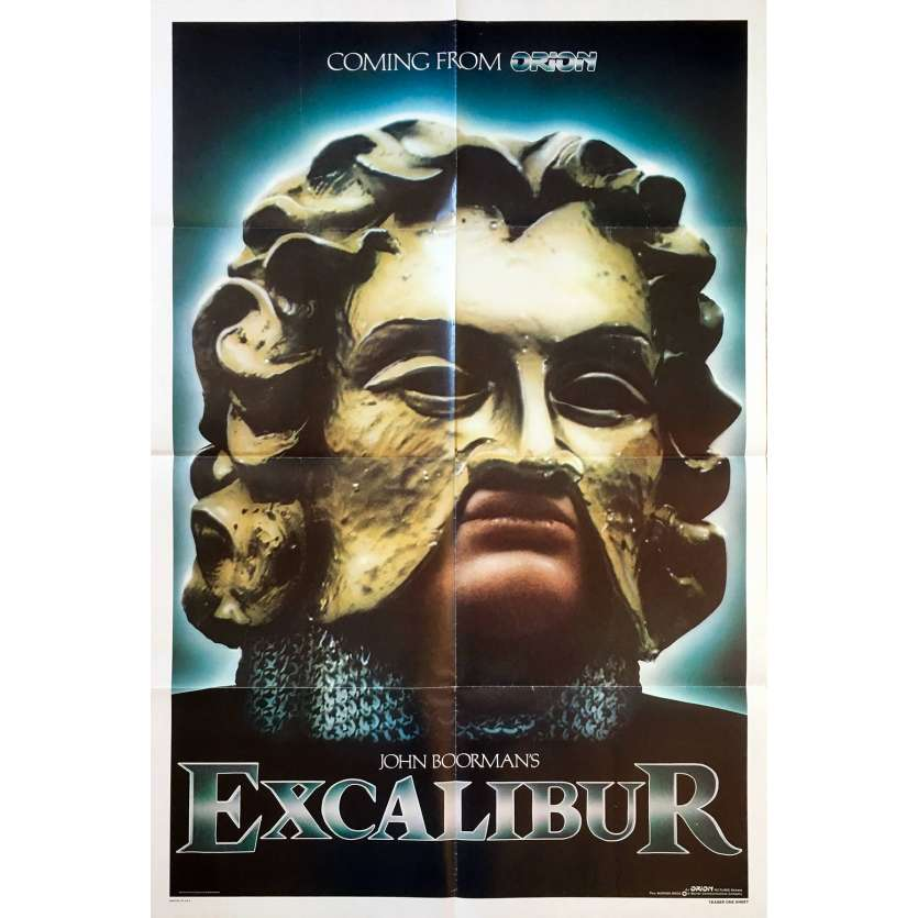 EXCALIBUR Affiche du film US '81 John Boorman