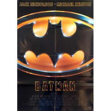BATMAN Original Movie Poster Glossy - 27x40 in. - 1989 - Tim Burton, Jack Nicholson